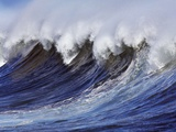 Breaking wave on the North Shore of Oahu