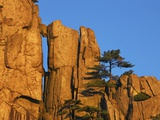 Rock formations in the Yellow Mountains in China