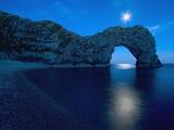Durdle Door Arched Rock Formation on the Dorset coast