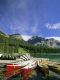 Emerald Lake and Canoe Docks  Yoho National Park  British Columbia  Canada