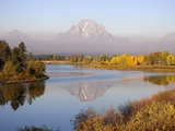 Mount Moran and the Snake River with autumn color