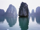 Rock formations in Halong Bay