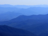 Fog over mountain ranges  Great Smoky Mountains  Blue Ridge Mountains  North Carolina  USA