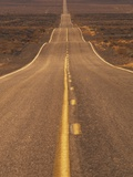 USA  California  Death Valley- Long Shot of Desert Highway