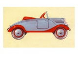 Illustration of toy car