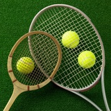 Tennis racket and tennis ball