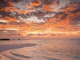 Sunrise over the Maldive Islands