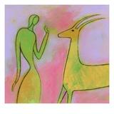 Woman and Impala