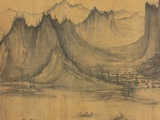 Detail of Fishermen&#39;s Evening Song by Xu Daoning