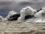 Fierce Lake Superior Waves Pound Minnesota&#39;s North Shore