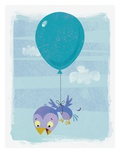 Baby Bird Attached to Balloon