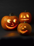 Three Jack-o'-lanterns