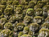 Stone Statues in Otagi Nebutsuji Temple in Kyoto