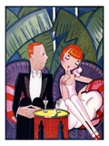 Illustration of 1920s Couple on Date by Fish