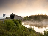 Covered Bridge on Kingston Penninsula  New Brunswick  Canada