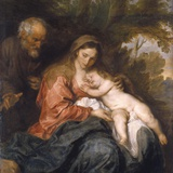 Rest on the Flight into Egypt by Anthony van Dyck