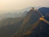 Great Wall winding in the mountain at sunset  Jinshanling  Hebei  China