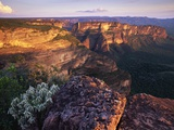 Sandstone Cliffs at Sunset