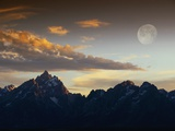 Sunset over Teton Range