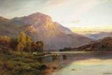 A View of Loch Lomond near Inversnaid, Scotland Giclée par Alfred Fontville De Breanski
