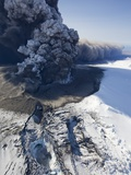 Eyjafjallajokull volcano erupting in Iceland