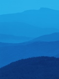 West Kootenays  Layers of Mist  Blue Toned  British Columbia  Canada