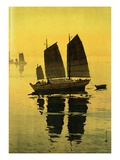 Mist  from a Set of Six Prints of Sailing Boats