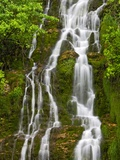 Waterfall Cascading Down Cliffside Along the Coast of the Gulf of St Lawrence  Gaspe Peninsula  La