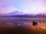 Fog Hanging Over Reflection Lake