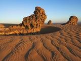 Eroded rock formations  Tassili du Hoggar  Algeria