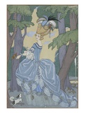 Walk in the Forest Giclée par Georges Barbier