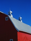 Roof on a Large Red Barn