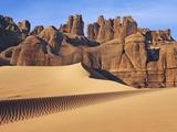 Eroded landscape in Tassili du Hoggar  Sahara  Algeria