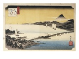 Sunset at Seta  from the Series Eight Views of Lake Biwa