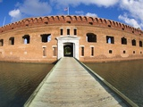Entrance bridgeway over the moat to enter Fort Jefferson