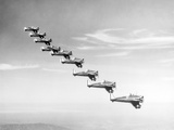 United States Army Monoplanes in Flight Formation