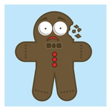 Crumbling gingerbread man