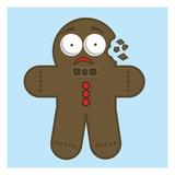 Crumbling gingerbread man