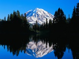Mount Rainier and Lake Reflections