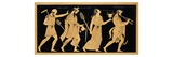 19th Century Antique Vase Illustration of Dionysus and Three Figures