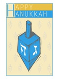 Happy Hanukkah  with a Dreidel