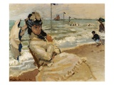 Camille [Monet] on the Beach  Trouville