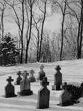 Grave Markers in Snow