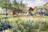 A Swedish Landscape with Poppies Giclée par Johan Erik Ericson
