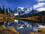 Autumn Foliage Surrounding Picture Lake