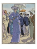 Fashion Illustration of Cheruit&#39;s Beach Dress by Pierre Brissanol