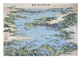Map of Shiogama and Matsushima in Oshu