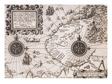Map of Nova Zembla from Diarium Nauticum  seu vera descriptio trium navigationum admirandarum
