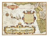 Map of Western Africa by Arnold Florent van Langren after Jan Huygen van Linschoten