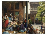 The Midday Meal, Cairo, Egypt Giclée par John Frederick Lewis